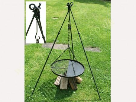 Tri-Pod Long leg with BBQ Rack  extra web