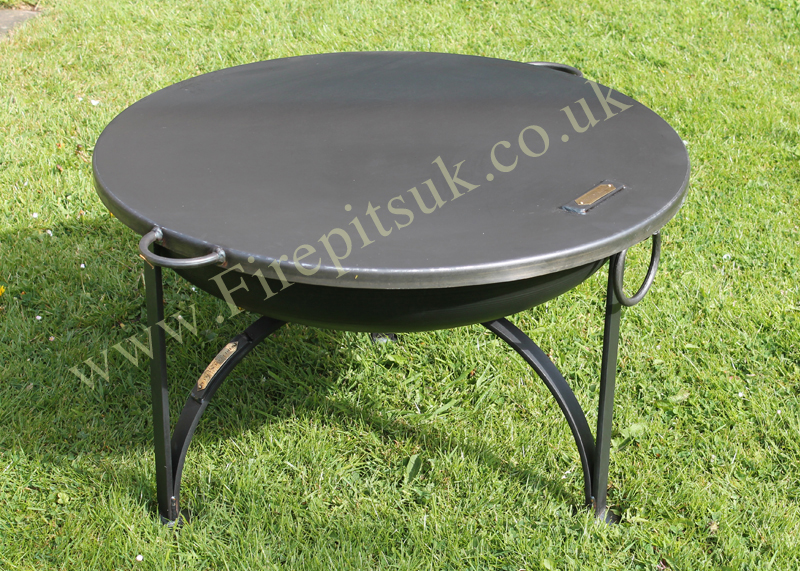 Lovely Fire Pit Table Top Cover Part - 11: Flat Cover U2013 Table Top Lid U2013 Fire Pit With Lid. New Flat Lid With Handles  Web