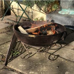 Kadai 80 & BBQ Rack lit in garden