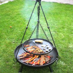Tripod Cooking Rack on Celeste 80 cooking food