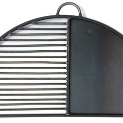 Half Moon BBQ Rack Plate and Bar on white background