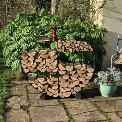 Log Store 120 in garden with logs