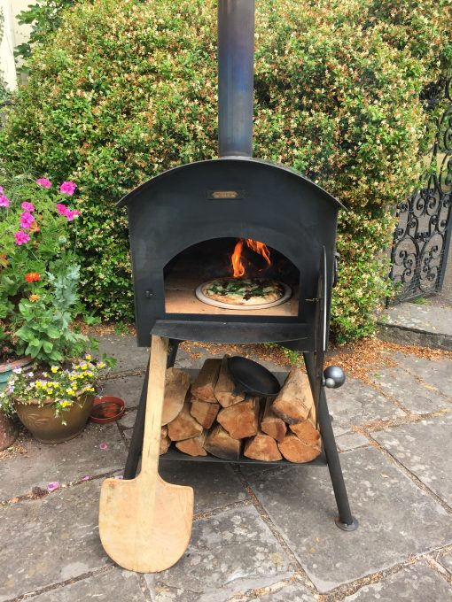Traditional Pizza Oven with pizza cooking