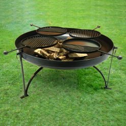 Plain Jane 120 with 4 swing arm BBQ racks